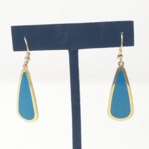 """Vintage 1.75"""" Laurel Burch alpaca pierced earrings"""
